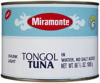 Miramonte Tongol Tuna In Water, No Salt