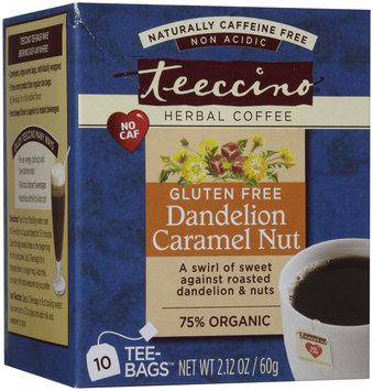 Teeccino Dandelion Caramel Nut Caffeine Free Herbal Coffee, 10 pk