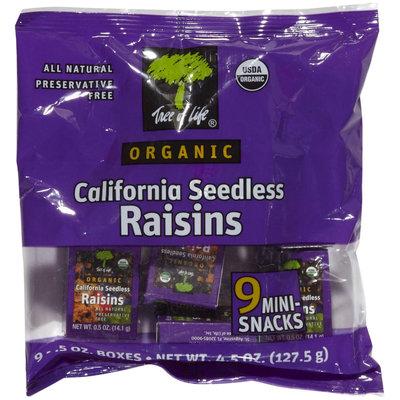 Tree Of Life Organic Raisins, 9-0.5 oz boxes