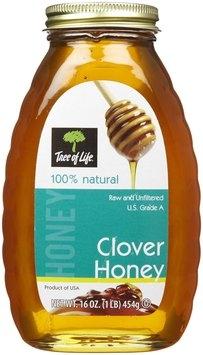 Tree Of Life Clover Raw Honey, 16 oz