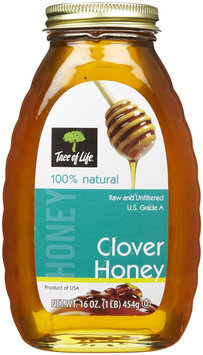Tree Of Life Clover Raw Honey, 16 oz