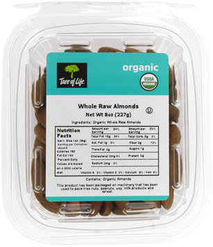 Tree Of Life Organic Whole Raw Almonds, 8 oz