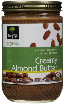 Tree Of Life Organic Creamy Almond Nut Butter, 16 oz