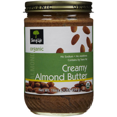 Tree Of Life Organic Creamy Almond Nut Butter, 16 oz