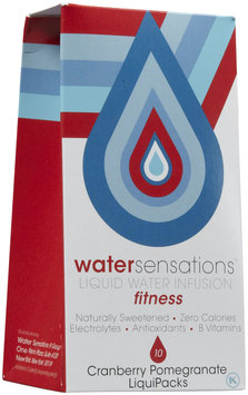 Water Sensations Clear Natural Liquid Water Infusion Cranberry Pomegranate Fitness 10 Count Boxes (Pack Of 5)