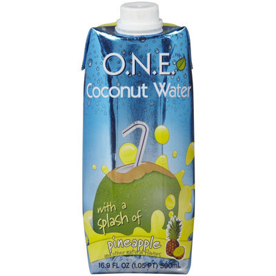 One Natural Experience Pineapple Coconut Water, 16.9 oz, 12 ct