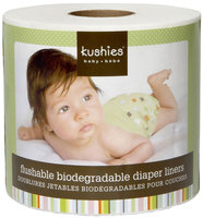Kushies Flushable Biodegradable Diaper Liners - 1 Roll