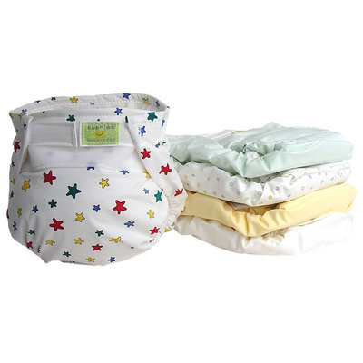 Kushies Ultra Lite All in One Cloth Diaper - - Assorted - 5 ct.
