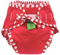 Kushies Reusable Swim Diaper - Red Solid Medium - 1 ct.