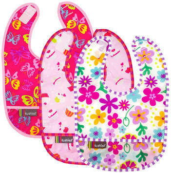 Kushies Kushies Baby Taffeta Waterproof Bib - Girl - 3 Pk - 1 ct.