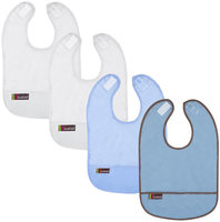 Kushies Kushies Baby Taffeta Waterproof Bib - Sky/Cornflower/ White - 4 Pk - 1 ct.