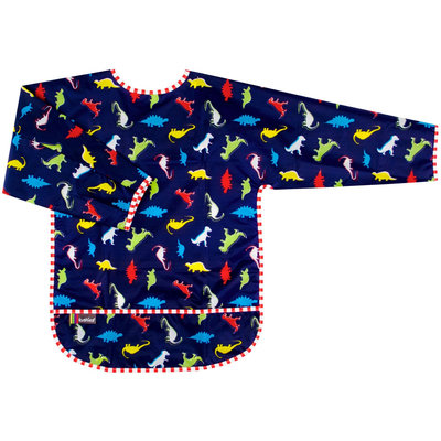 Kushies Baby Waterproof Bib with Sleeves - Toddler Dino Print - 1 ct.