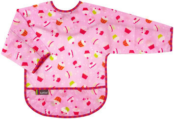 Kushies Baby Waterproof Bib with Sleeves - Toddler Cupcake Print - 1 ct.