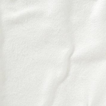 Kushies Organic Playard Fitted Sheet- White/ Flannel