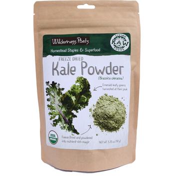 Wilderness Poets Kale Powder - Freeze Dried - Organic & Raw