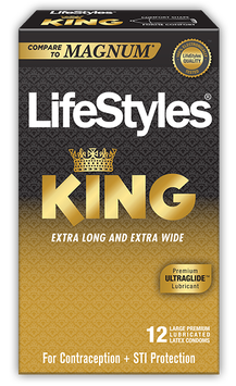 LifeStyles King Lubricated Condoms