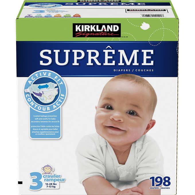 Kirkland Signature Supreme Diapers Size 3