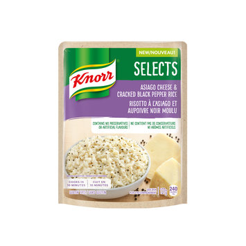 Knorr Selects Asiago Cheese & Cracked Black Pepper Rice