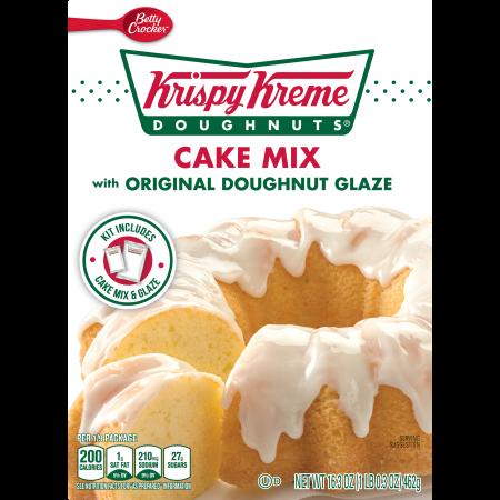 Betty Crocker™ Krispy Kreme Cake Mix With Original Doughnut Glaze