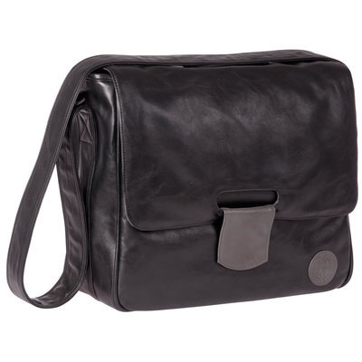 L Ssig Lassig Tender Messenger Diaper Bag in Black