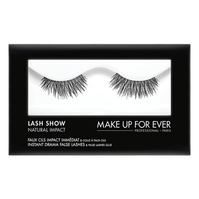 MAKE UP FOR EVER Lash Show - N-102 Instant Drama False Lashes & False Lashes Glue - Natural Impact
