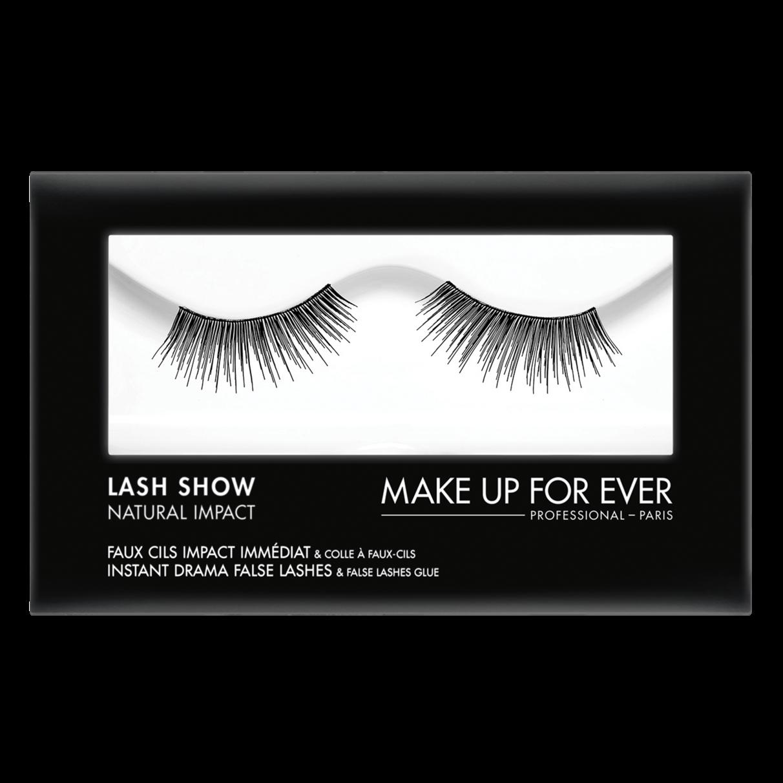 MAKE UP FOR EVER Lash Show - N-104 Instant Drama False Lashes & False Lashes Glue - Natural Impact