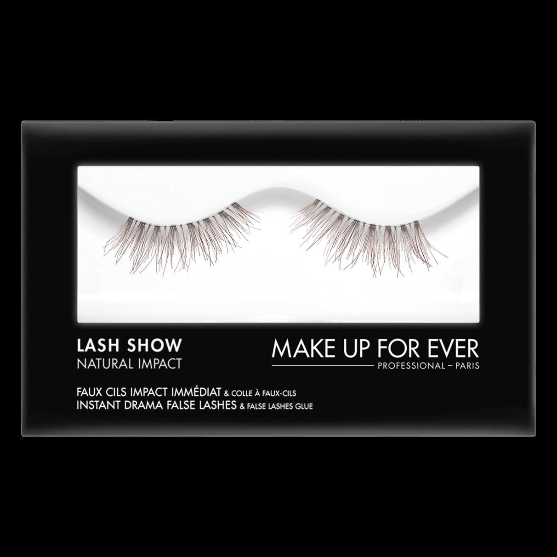 MAKE UP FOR EVER Lash Show - N-106 Instant Drama False Lashes & False Lashes Glue - Natural Impact