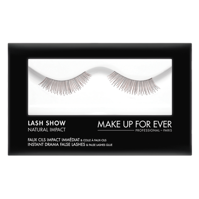 MAKE UP FOR EVER Lash Show - N-302 Instant Drama False Lashes & False Lashes Glue - Natural Impact