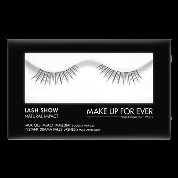 MAKE UP FOR EVER Lash Show - N-304 Instant Drama False Lashes & False Lashes Glue - Natural Impact