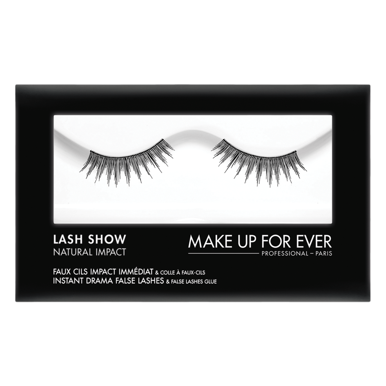 MAKE UP FOR EVER Lash Show - N-305 Instant Drama False Lashes & False Lashes Glue - Natural Impact