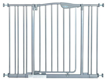 La Baby Tall Metal Auto Close Safety Gate with 3 Extension