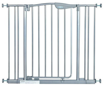 La Baby Tall Metal Auto Close Safety Gate with 2 Extension