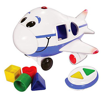 Learning Journey 890240 Jumbo the Jet Shape Sorter Remote Control Airplane