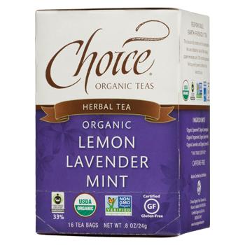 Choice Organic Teas Lemon Lavender Mint Herbal Tea