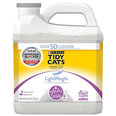 Tidy Cats LightWeight Clean Blossoms Clumping Cat Litter With Glade Tough Odor Solutions