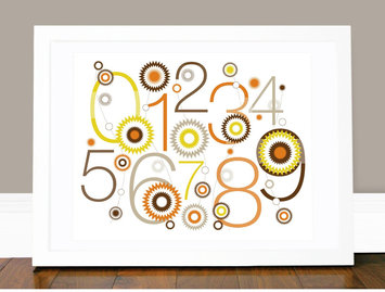Olli & Lime Billie 123 Wall Art