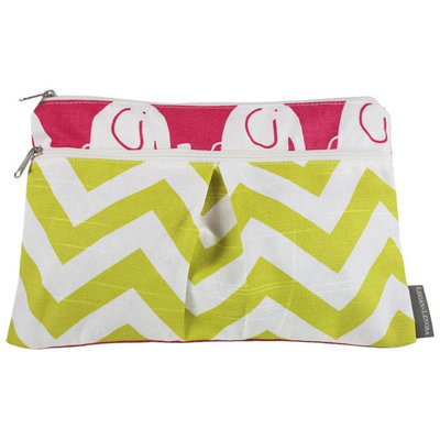 Logan & Lenora Wet & Dry Diaper Clutch - Pink Eli - 1 ct.