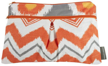 Logan & Lenora Wet & Dry Diaper Clutch - Tangerine IKAT - 1 ct.