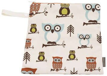 Logan & Lenora Mini Wet Bag - Earthy Owls - 1 ct.
