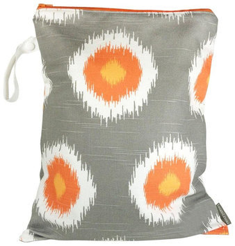 Logan & Lenora Classic Wet Bag - Tangerine IKAT - 1 ct.