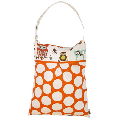Logan & Lenora Daytripper Wet & Dry Tote - Earthy Owls - 1 ct.