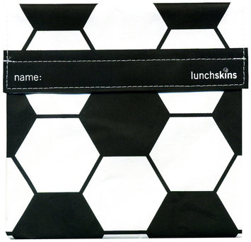 LunchSkins Reusable Sandwich Bag - Black Soccer