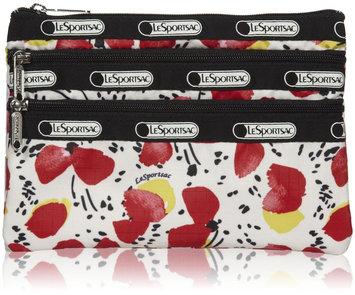 LeSportsac 3-Zip Cosmetic - Poppy Mini