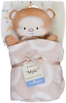 Living Textiles Baby Snuggle Character Blanket in Mylo Monkey