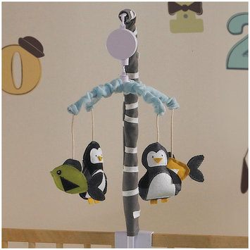 Living Textiles Lolli Living Phinley Musical Mobile - Penguin