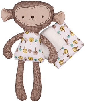 Lolli Living by Living Textiles Baby Mix & Match Toy and Blanket Set in Rocco Monkey