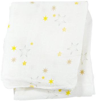 lulujo Bamboo Muslin Swaddling Blanket- Stars