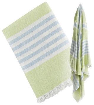lulujo Turkish Towel - Teal & Aqua