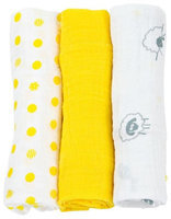 lulujo Muslin Minis 3 pk- Sunshine Yellow