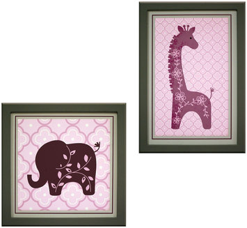 Lambs & Ivy Lavender Jungle Wall Decor